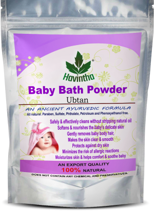 Havintha Baby Bath Powder for Removes Baby Body Hair and Skin Clear & Smooth  (227 g)