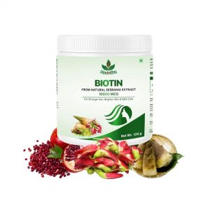 Havintha Plant Based Biotin for Skin, Nail and Hair Health (With Pomegranate, Sesbania Agati Extract and Bamboo Shoot) – 120 Gm